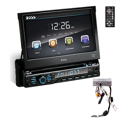 Boss BV9967B Single-Din Car DVD Player, 7