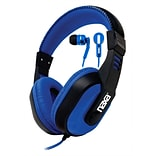 DJZ Ultra Plus Headphn Earphn Combo BLU