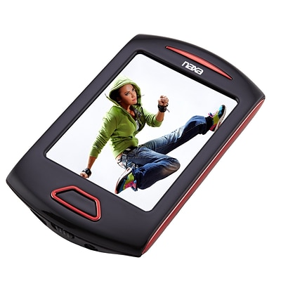 Naxa nmv179x Portable 8GB Media Player with 2.8 Touch Screen, Red