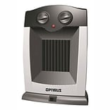Optimus 1500 W Portable Oscillating Ceramic Heater; Silver (h-7248)