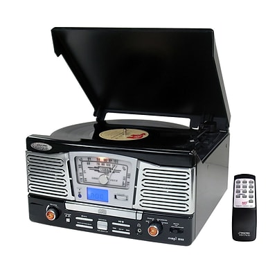 Pyle Retro Style Turntable with CD/Radio/USB/SD/MP3/WMA/Vinyl-to-MP3 Encoding (ptcd8ub)