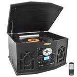 Retro Turntable CD/MP/iPod Player Bk