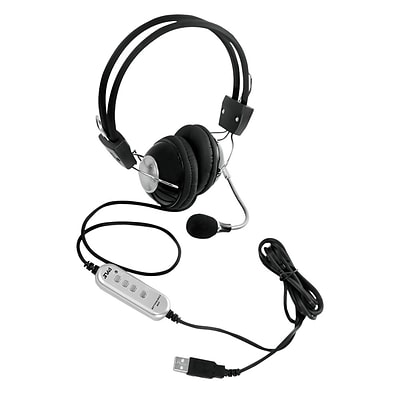 Pyle PHPMCU10 Multimedia/Gaming USB Headset with Noise-Canceling Microphone; Black