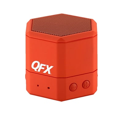 QFX BT43WA Portable Hand Free Wireless/Wired Speaker; Red
