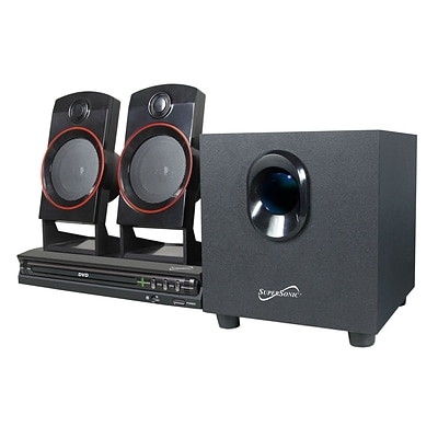 Supersonic 77782 11W 2.1 Channel DVD Home Theater System, Black