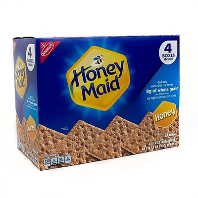 Nabisco  Honey Maid Honey Graham Crackers Value Pack, 14.4 oz, 4 Boxes/Pack  (220-00442)