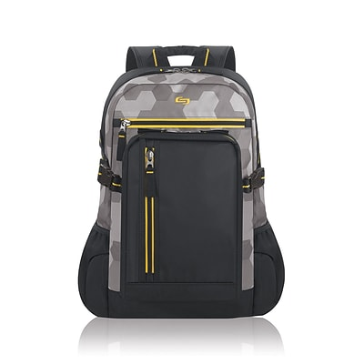 Solo Active 15.6 Laptop Backpack, Gray/Yellow/Black (ACV752-13)