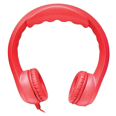 HamiltonBuhl KIDS-RED Flex-Phones Foam Headphones, Red