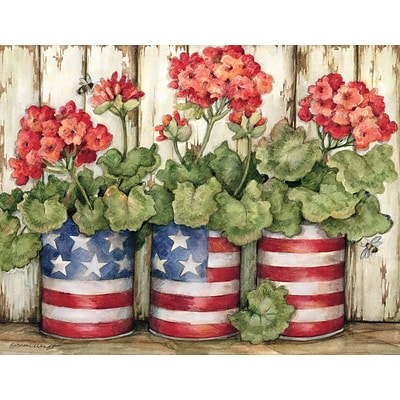 LANG Patriotic Flowers Boxed Note Cards (1005280)