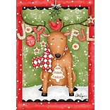 LANG Joyful Reindeer 12 x 18 Mini Garden Flag (1700005)