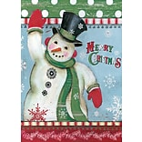 LANG Merry Snowman 12x18 Mini Garden Flag (1700007)