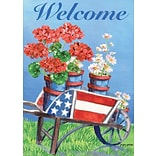 LANG Stars & Stripes Wagon 12x18 Mini Garden Flag (1700020)