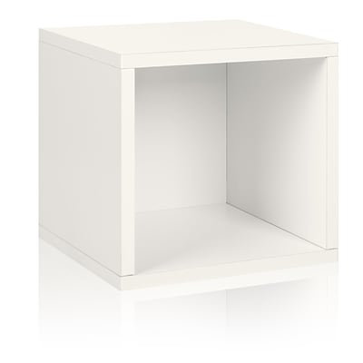 Way Basics zBoard Paperboard Storage Cube, White