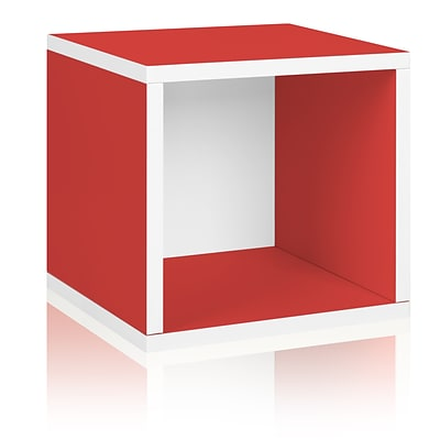 Way Basics zBoard Paperboard Storage Cube, Red