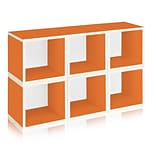 Way Basics zBoard Recycled Paper 6 Modular Storage Cube, Orange, 6/Pack