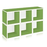 Way Basics zBoard Recycled Paper 6 Modular Storage Cube, Green, 6/Pack