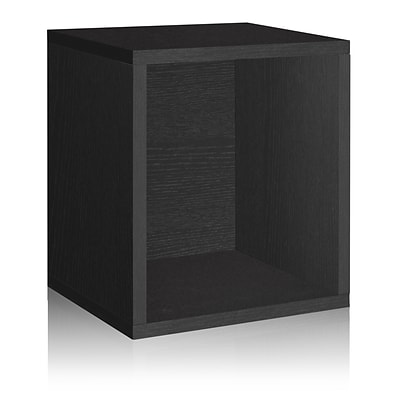 Way Basics zBoard Paperboard Storage Cube, Black