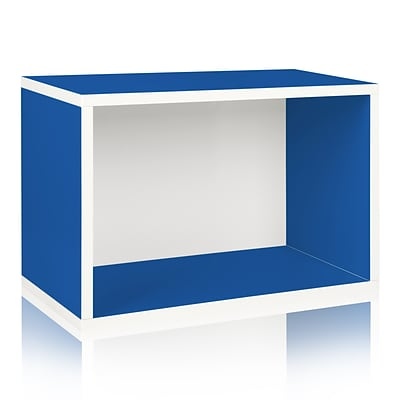 Way Basics Rectangle Plus zBoard Recycled Paper Bookcase Blue