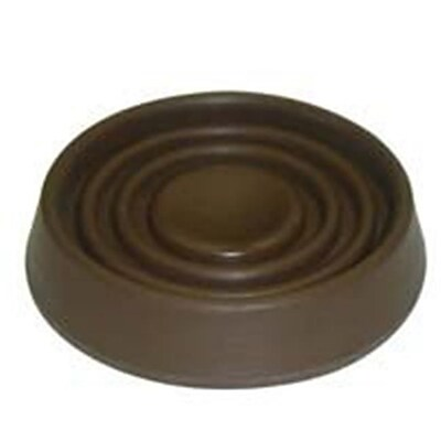 Mintcraft FE;S708 Brown Round Rubber Caster Cup, 1.5 In.