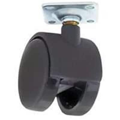 MINTCRAFT 1.63 Black 2 Wheel Plate Caster (ORGL38859)