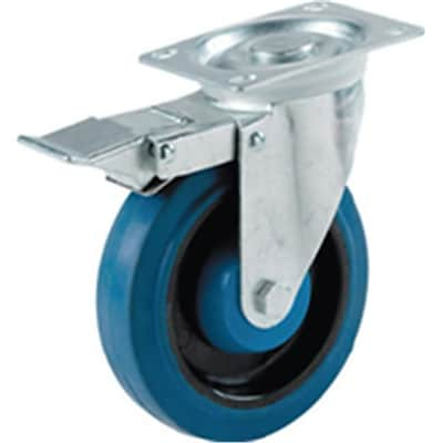Shepherd Hardware Soft Rubber Wheel with Brake (ORGL28953)