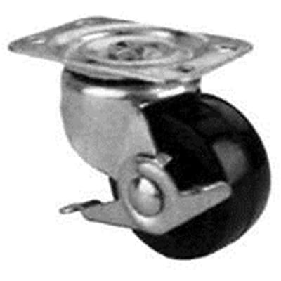 MINTCRAFT 4in Rubber Plate Caster with Brake (ORGL38874)