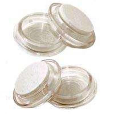 MintCraft Round Clear Felt Caster Cup; 2.38in