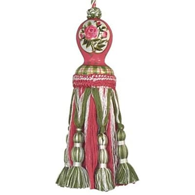 123 Creations C249 .8 Rose and Lily Hand Painted Tassel (create094)