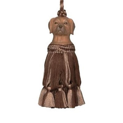 123 Creations Hand Painted Tassel; Brown Dog (CREATE866)