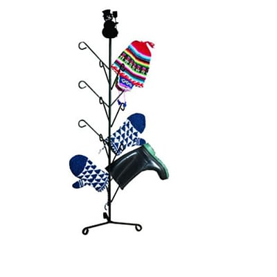 Village Wrought Iron Snowman Mitten-Dryer Stand (VW1186)