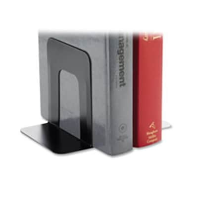 Business Source Jumbo Bookend Supports; 8.09 H x 6 W x 9 D, Black (SPRCH9614)