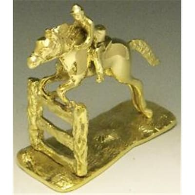 Mayer Mill Brass Jumping Horse And Fence Book Ends; Pair (MYRMB596)