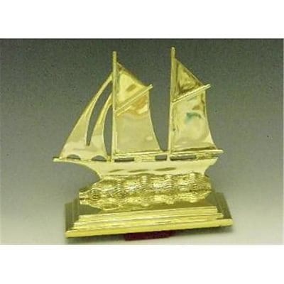Mayer Mill Brass Sail Boat Book Ends; Pair (MYRMB558)
