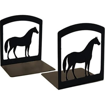 Village Wrought Iron Horse Bookends (VW019)