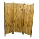 3 Panel Screen w/Small Round Sticks 63x60