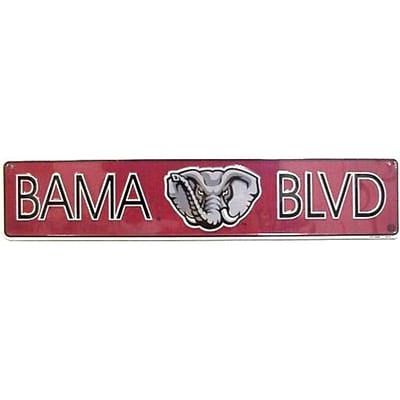 Smart Blonde BAMA Blvd Alabama Boulevard Street Sign (SMRTB1510)
