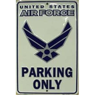 Smart Blonde Air Force Parking Only Sign; 12L x 8W (SMRTB1436)