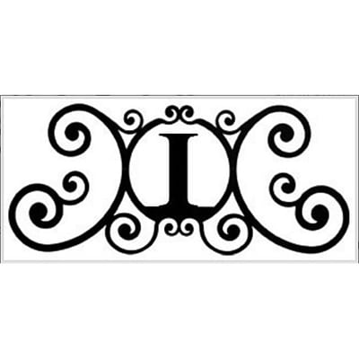 Village Wrought Iron Letter I House Plaque (VW1006)
