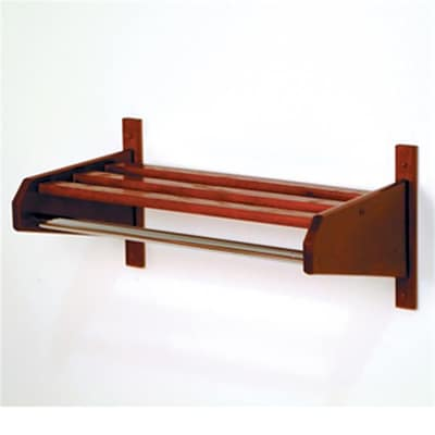 Wooden Mallet 32in Oak Coat and Hat Rack in Mahogany; 5/8in Bar (WDNM022)