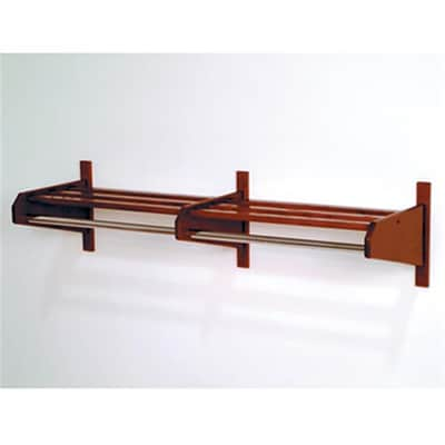 Wooden Mallet 72in Oak Coat and Hat Rack in Mahogany; 5/8in Bar (WDNM052)