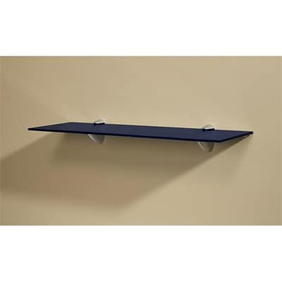 Amore Designs Blue Wall Shelf Kit with Silver Pelicani Brackets; 11in x 36in (LTLH162)