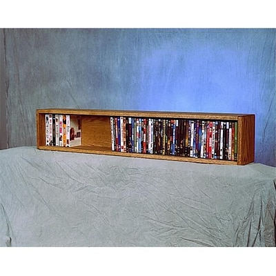 Wood Shed Solid Oak Wall- or Shelf-Mount DVD/VHS/Book Cabinet (WDSP075)