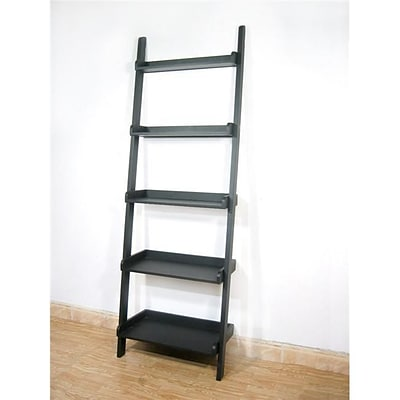 International Concepts 5-Tier Leaning Shelf; Black (INTC001)
