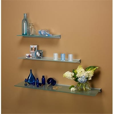Amore Designs GCE1236OP Glace Opaque Glass Shelf; 12in x 36in (LTLH174)