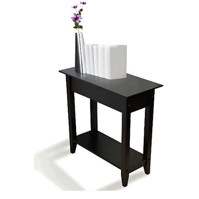 Convenience Concepts 7105059BL American Heritage Flip Top End Table ; Black
