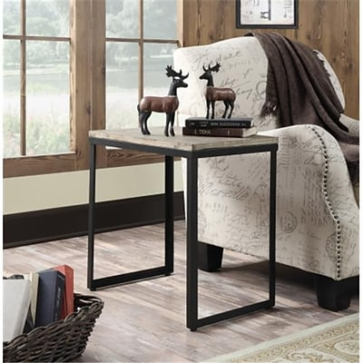 Wyoming End Table with China Fir/Black Matte Finish (RTL52411)