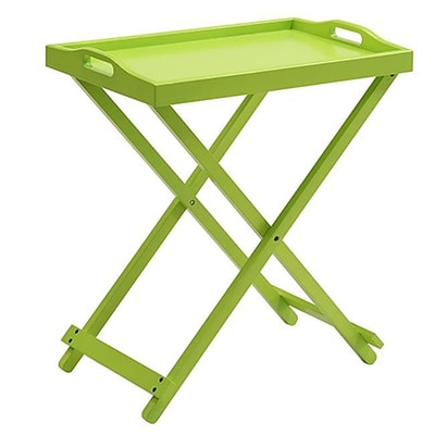 Convenience Concepts Folding Tray Table; Green Finish (RTL52406)