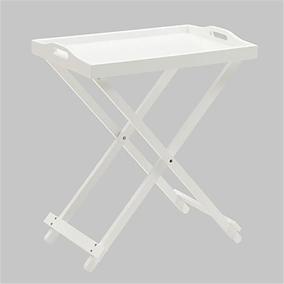 Convenience Concepts Folding Tray Table with White Finish (RTL52404)