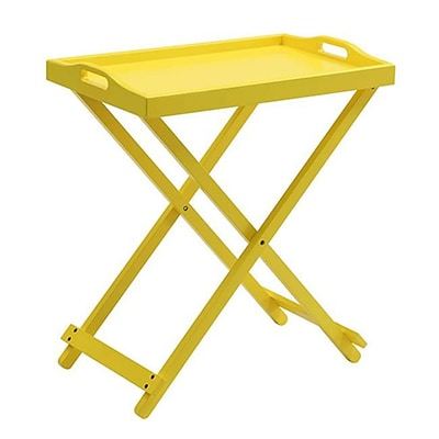 Convenience Concepts Folding Tray Table; Yellow Finish (RTL52405)