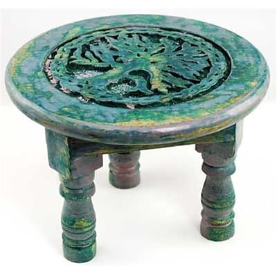 AzureGreen Round Tree Of Life Altar Table; 6in (AZRGR5795)